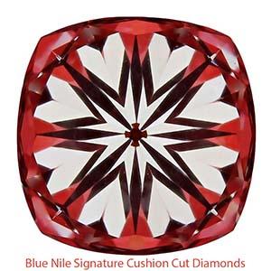 Blue Nile Signature Cushion cut diamonds, GIA 2161857685