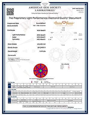 Brian Gavin Signature round diamond reviews, AGSL DQD 104078265036