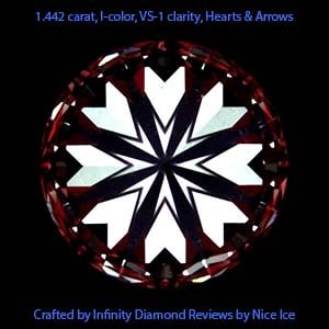 Crafted by Infinity diamond reviews, AGS 104074746021, Hearts and Arrows