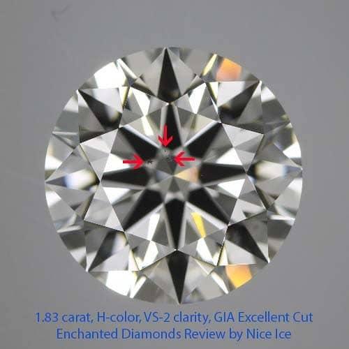 Enchanted Diamonds Reviews, GIA Excellent cut, 1179986966, Clarity Photograph
