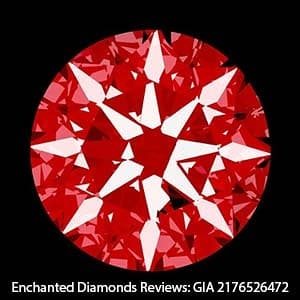 GIA Excellent Cut Hearts and Arrows Scope Images.