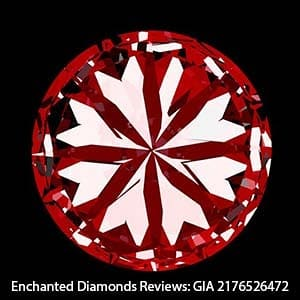 H&A Scope Image for this GIA Excellent Cut Diamond.