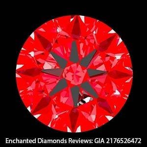 Ideal Scope Image for this GIA Excellent Cut Diamond.