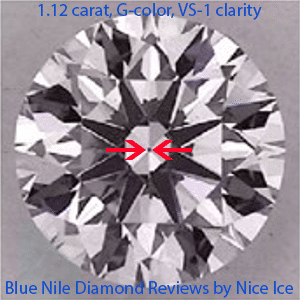 Blue Nile Signature diamond reviews, GIA 5166801160, how does small culet look