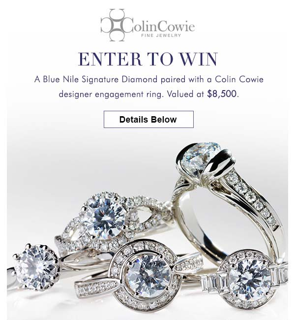 Blue Nile Contest Sweepstakes Enter to Win Colin Cowie Engagement