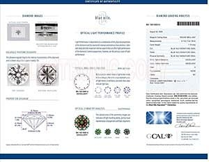 Blue Nile Signature round diamond reviews, LD01432627, GIA 6102412361, GCAL 192100014