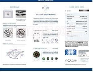 Blue Nile Signature round diamond reviews, LD01432627, GIA 6102412361, GCAL 192100014