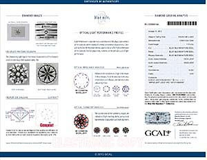 Blue Nile Signature Canadian round diamond review, LD02411293, GCAL BN222980104