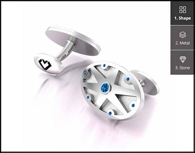 Custom Design Cufflinks Builder by Brian Gavin.