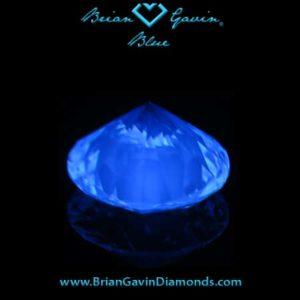 Blue Fluorescence Diamond