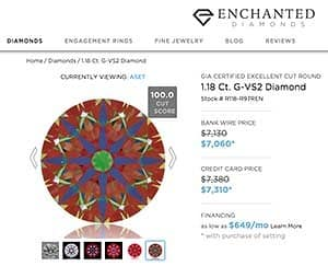 Enchanted Diamonds engagement ring, SKU R97REN, GIA 5203638423