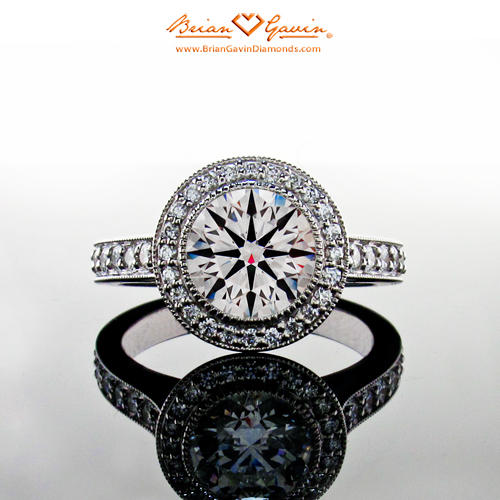 Halo Engagement Ring by Brian Gavin.