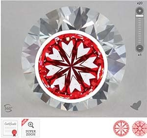 James Allen ideal cut diamond, SKU 559063, AGSL 104078405001