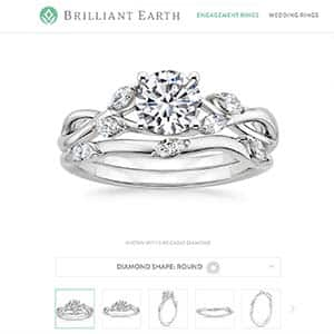 Brilliant Earth engagement rings, Willow wedding set reviews