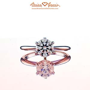 Brian Gavin tapered tiffany style solitaire, top down