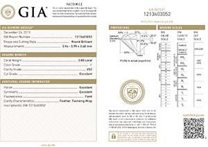 Blue Nile diamond reviews, LD06571402, GIA 1213403052
