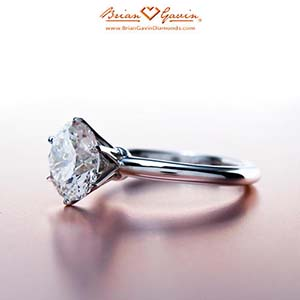 Brian Gavin classic tiffany style solitaire, differences between F-G-H color diamonds