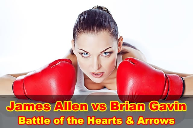 James Allen vs Brian Gavin, hearts and arrows diamond reviews