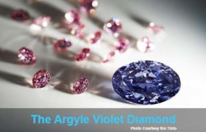 Argyle Violet Diamond, photo courtesy Rio Tinto