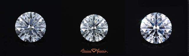 Diamond color comparison, D-E-F Brian Gavin, AGS 104072940002, AGS 104067228042, AGS 104086279070
