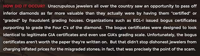 Diamond Lawsuit claims EGL over-graded diamond color, clarity, characteristics, Cummings Manookian