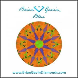 Does setting color affect perception of diamond color? BGD Signature, AGSL 104074030042, ASET