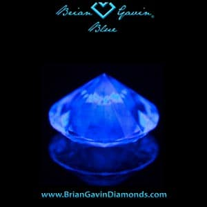 FTC Rule 28 misuse of the term blue white diamonds, strong blue fluorescent diamond, photo by Brian Gavin, AGSL 104067973013