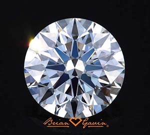 Is diamond color more visible in larger stones? Brian Gavin Signature round diamond, AGS 104083068007