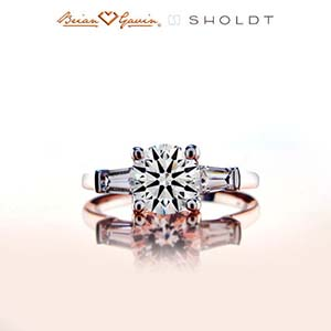 3 stone diamond ring from Brian Gavin, the Sasha by Sholdt