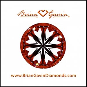 Brian Gavin Signature round hearts and arrows diamond, AGS104087405084