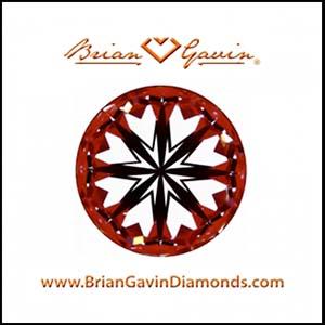 Brian Gavin Signature round hearts and arrows diamond, AGS104087405084
