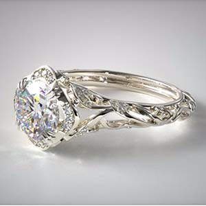Vintage filigree diamond engagement rings, James Allen SKU 52755