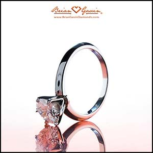 2 carat diamond ring, classic knife edge solitaire by Brian Gavin