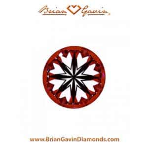 Brian Gavin diamond reviews, AGS 104087135005 hearts and arrows