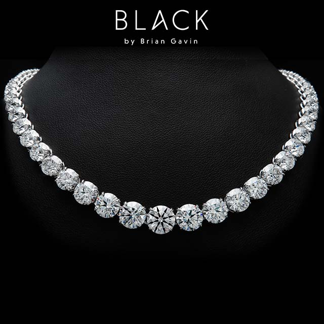 Black by Brian Gavin diamond tennis necklace