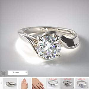 14k white gold bypass popular engagement rings James Allen