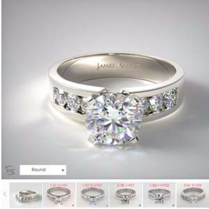 Classic channel popular engagement rings James Allen