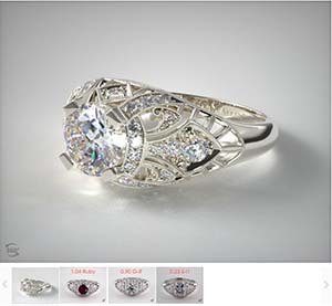 Popular engagement rings Fleur de Lis by James Allen