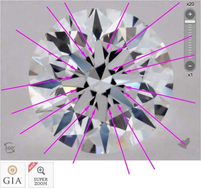 James Allen diamond reviews via Nice Ice, SKU 1906000, GIA 7233145623 heavy obstruction