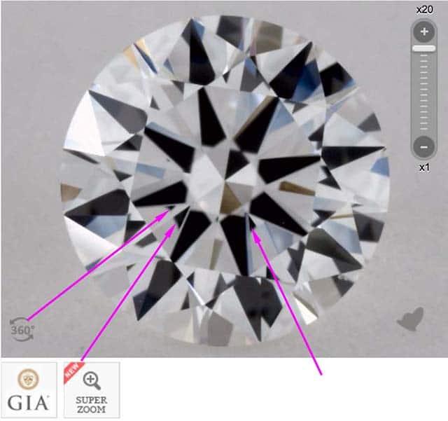James Allen diamond reviews via Nice Ice, SKU 1937278, GIA 1233191862 slight obstruction