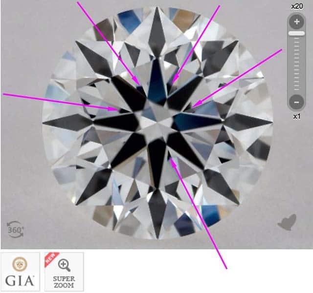 James Allen diamond reviews via Nice Ice, SKU 2157703, GIA 1172868852 moderate obstruction
