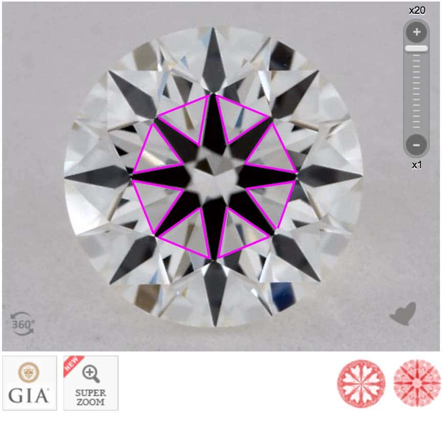 James Allen Diamond Reviews via Nice Ice, SKU 2209486, GIA 1172891992 minimal obstruction