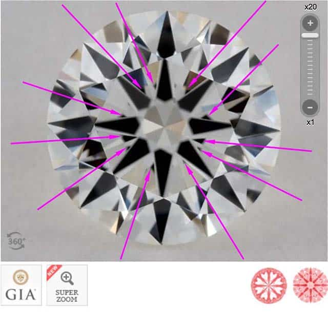 James Allen diamond reviews via Nice Ice, SKU 2211726, GIA 2248158062 slight obstruction