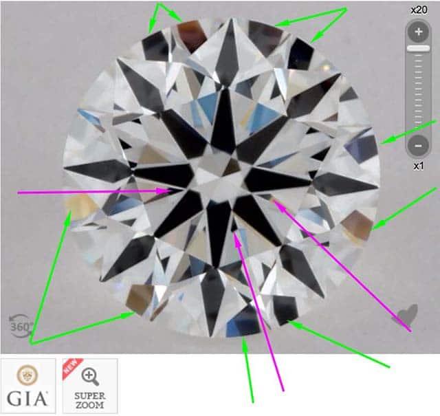 James Allen diamond reviews via Nice Ice, SKU 2222779, GIA 2175936082 slight obstruction