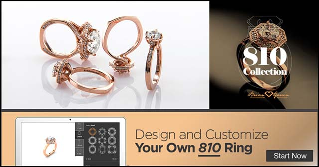 810 Collection from Brian Gavin, build your dream engagement ring in 5 easy steps
