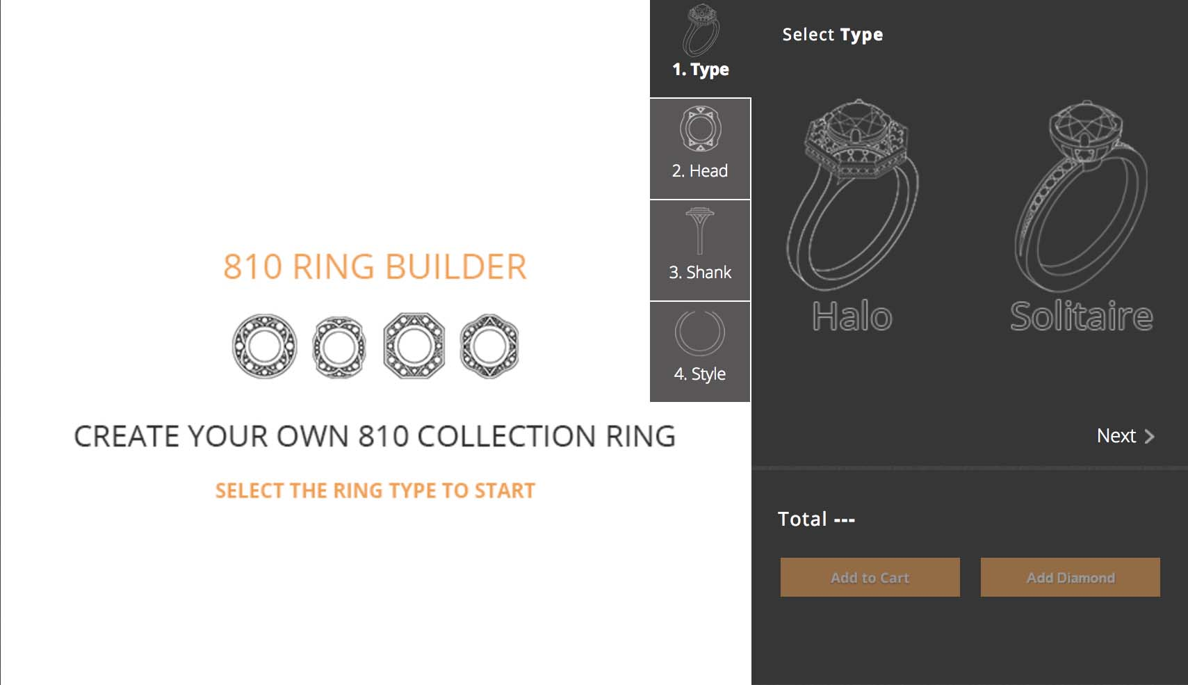 810 Collection ring builder tutorial step one