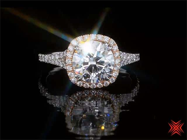Crafted by Infinity Diamond, set in custom ring by High Performance Diamonds
