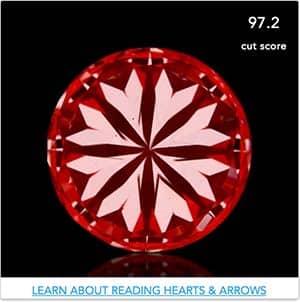 1 carat round diamond, Enchanted Diamonds SKU R100-654138232 hearts