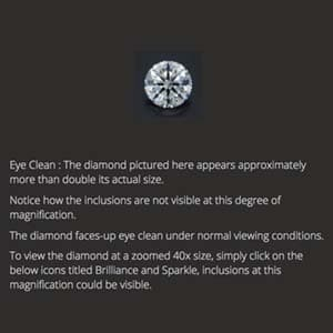 Black by Brian Gavin diamond reviews, AGSL 104092228001, actual size