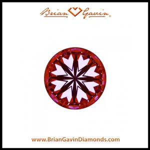 Black by Brian Gavin diamond reviews, AGSL 104092228001 hearts